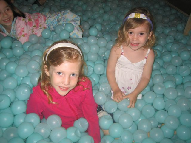 dylan and summer in the ball pit