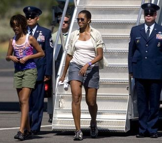 Michele Obama wears shorts