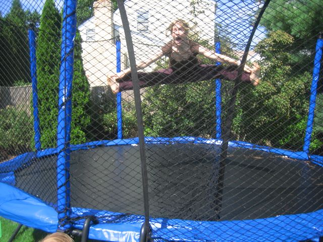 kelcey on trampoline