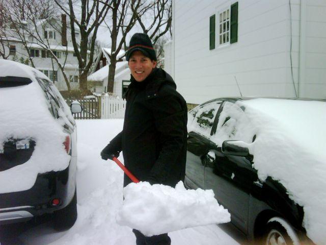 rick shoveling snow 1