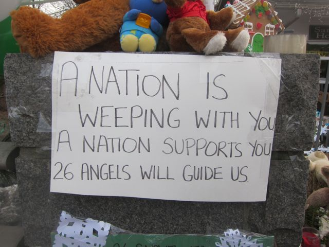 Newtown Sandy Hook Nation is Weeping sign