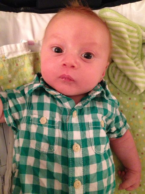 Cash 2 months - green white shirt