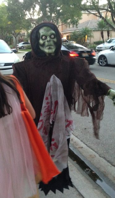 monster on halloween