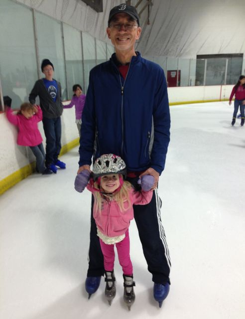 dad ice skating