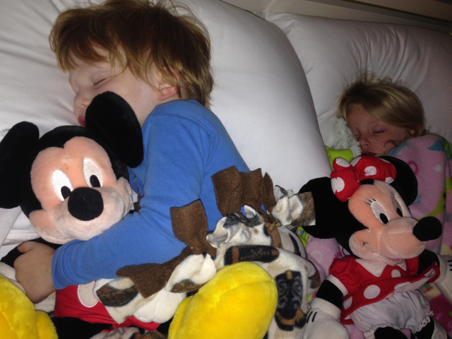 disney twins sleeping
