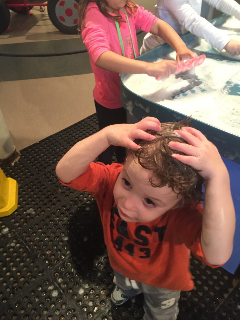 Toddler at Discovery Museum