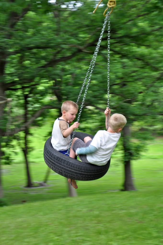 Tire Swing fun